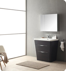 "Fresca FVN8532CN Milano Bathroom Vanity with Sink & Faucet & Medicine Cabinet 31.5"" W - Chestnut"