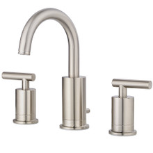 Price Pfister LG49-NC1K Contempra Two Handle Widespread Bathroom Faucet with Metal Pop-Up Assembly - Brushed Nickel