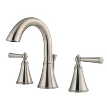 Price Pfister GT49-GL0K Saxton Two Handle Widespread Bathroom Faucet with Metal Pop-Up Drain - Brushed Nickel