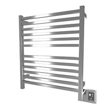 "Amba Quadro Q-2833-P 28"" W x 33"" H Towel Warmer and Space Heater - Polished Stainless"