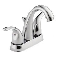 Peerless P299695LF Two Contemporary Handle J Spout Centerset Lavatory Faucet - Chrome