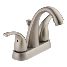Peerless P299695LF-BN Two Contemporary Handle J Spout Centerset Lavatory Faucet - Brushed Nickel