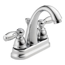 Peerless P299696LF Two Traditional Handle J Spout Centerset Lavatory Faucet - Chrome