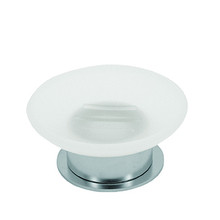 Valsan Pombo Scirocco Freestanding Soap Dish Holder - Satin Nickel