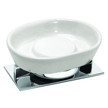Valsan Pombo Sensis Freestanding Soap Dish Holder - Satin Nickel