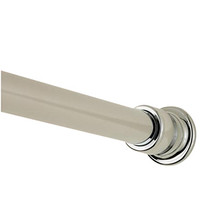 Valsan Kingston Shower Curtain Rod & Supports - Unlacquered Brass