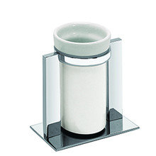 Valsan Pombo Sensis Freestanding Tumbler Holder - Polished Nickel