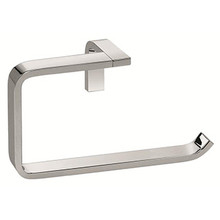 Valsan Sensis Flat Curved Open Towel Ring - Satin Nickel
