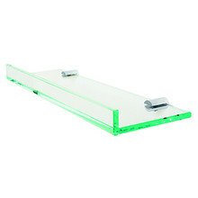 "Valsan Pombo Archis Wall Mount Glass Shelf 23 5/8"" X 4 7/8"" X 1 3/8"" - Chrome"