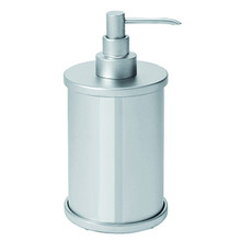 Valsan Pombo Scirocco Freestanding Liquid Soap Dispenser - Satin Nickel