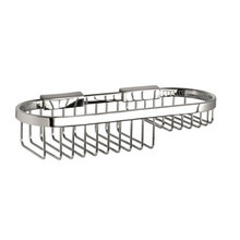 "Valsan Classic Detachable Oval Basket Soap Small 3 1/2"" X 11"" - Chrome"