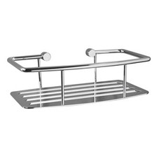 Valsan Classic D-Shape Soap & Shampoo Shower Shelf - Chrome