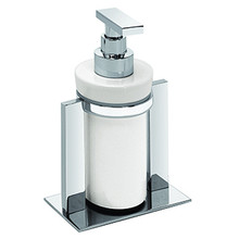 Valsan Pombo Sensis Freestanding Liquid Soap Dispenser - Satin Nickel
