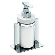 Valsan Pombo Sensis Freestanding Liquid Soap Dispenser - Satin Nickel