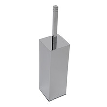 Valsan Cubis-Plus Freestanding Toilet Brush Holder - Chrome