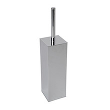 Valsan Braga Wall Mounted Square Toilet Brush Holder - Chrome