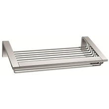 "Valsan Sensis Wall Mounted Soap & Sponge Basket 11 3/4""  - Satin Nickel"