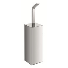 Valsan Sensis Freestanding Square Toilet Brush & Holder - Polished Nickel