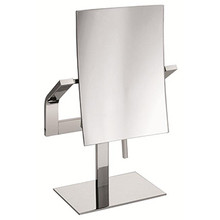 Valsan Sensis Freestanding Magnifying Mirror x3 with Stand - Polished Nickel