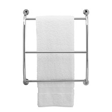 "Valsan Essentials Wall Mounted Three Tier Towel Rack 21 3/4"" W x 24"" H - Satin Nickel"