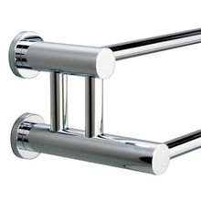 "Valsan Montana Contemporary Double Towel Bar 24"" - Chrome"