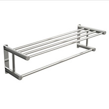 "Valsan Classic Towel Rack Shelf with Bar 24 1/2"" - Chrome"