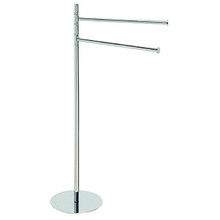 "Valsan Pombo Omnia Freestanding Dual Swivel Arm Towel Bar 36"" H x 20"" W - Chrome"