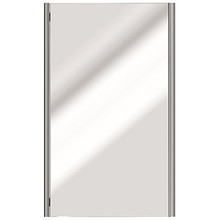 "Valsan Sensis Wall Mounted Mirror 21 1/2"" W x 31 1/2"" H - Satin Nickel"
