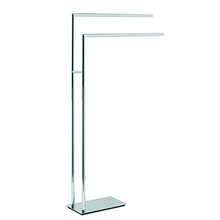 Valsan Pombo Etoile Freestanding Towel Bar - Satin Nickel