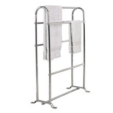 "Valsan Classic Freestanding Towel Horse Rack 11 1/2"" X 26"" X 35"" - Chrome"