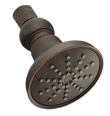 "Danze D460053BR Mono Round 1 Function Showerhead 3 1/2"" - Tumbled Bronze"