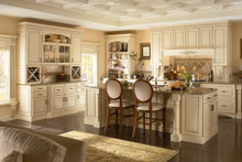 Kraftmaid Kitchen Cabinets - Square Raised Panel - Solid (MTM) Maple in Biscotti w/Cocoa Glaze