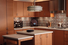 Kraftmaid Kitchen Cabinets - Slab - Veneer (AB4C) Quartersawn Cherry in Natural