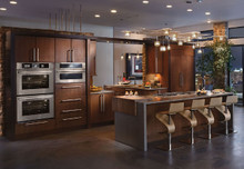 Kraftmaid Kitchen Cabinets -  Slab - Veneer (AB4C) Quartersawn Cherry in Rye