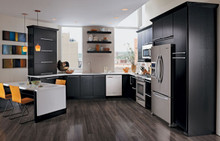 Kraftmaid Kitchen Cabinets -  Slab - Veneer (AB4O) Quartersawn Oak in Onyx