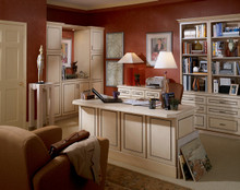 Kraftmaid Kitchen Cabinets -  Square Raised Panel - Solid (DAB) Rustic Birch in Praline