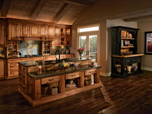 Kraftmaid Kitchen Cabinets -  Square Raised Panel - Solid (DAH) Rustic Hickory in Natural
