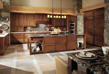 Kraftmaid Kitchen Cabinets -  Square Raised Panel - Solid (PVB) Birch in Cabernet
