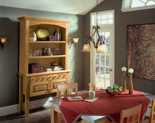 Kraftmaid Kitchen Cabinets -  Square Raised Panel - Solid (WLO) Oak in Autumn Blush