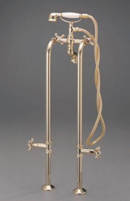 Cheviot  3970-AB Free Standing Water Supply Lines With Stop Valves for Tub Faucet  - Antique Bronze