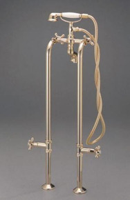 Cheviot  3970-PN Free Standing Water Supply Lines With Stop Valves for Tub Faucet  - Polished Nickel