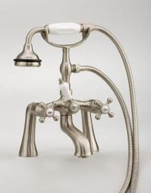 Cheviot  5106-CH Rim Mount Tub Filler Faucet With Hand Shower & Cross Handles  - Chrome