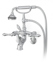 Cheviot  5115-BN-LEV Cross Handle Tub Filler Faucet with Diverter With Hand Shower  - Brushed Nickel