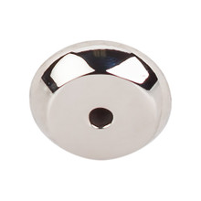 "Top Knobs  M2025 PN Aspen II Round Backplate 7/8"" - Polished Nickel"