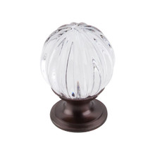 "Top Knobs  TK127ORB Crystal Clear Melon Crystal Knob 1 1/8"" w/ Oil Rubbed Bronze Base"