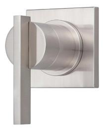 Danze D560944BNT One Handle Transfer Valve 4-Port Shower Diverter or Volume Control Valve Trim - Brushed Nickel