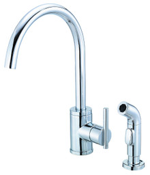 Danze D401058 Parma Single Handle High-Rise Kitchen Faucet with Side Spray 1.75gpm & 2.2gpm - Chrome