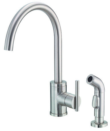 danze d401058ss parma single handle high-rise kitchen faucet with