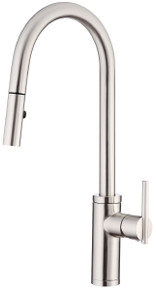 Danze D454058SS Parma Pullout Spray Kitchen Faucet with SnapBack Technology - Stainless Steel