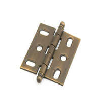 Schaub 1111B-ALB Ball Tip Mortise Hinge - Antique Light Brass